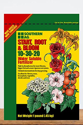 Southern Ag Start Root & Bloom Water Soluble Fertilizer 10-30-20, 1lb)