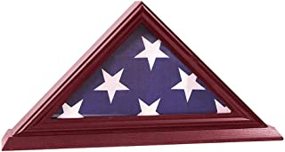 product image for 3'x5' Flag Display Case, Shadow Box (Not for Burial Funeral Flag), Solid Wood, Cherry Finish.