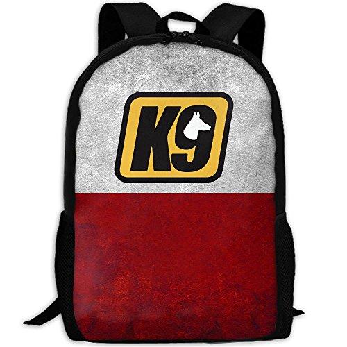 Police K9 Unit Black Duty Unique Outdoor Shoulders Bag Fabric Backpack Multipurpose Daypacks For Adult