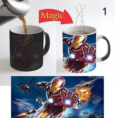 Iron Man Superhero Kids Cartoon Color Change Magic Coffee Mug 11 Oz for Gift - 1