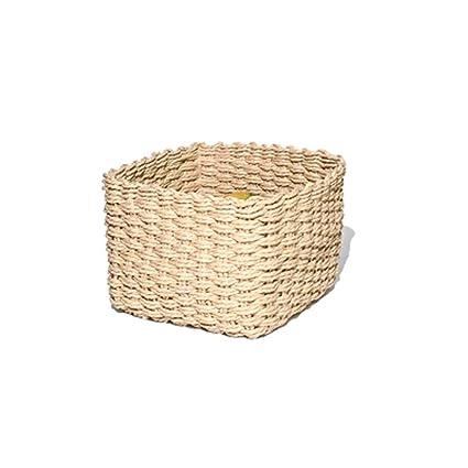 Amazon.com: WaWei Woven Storage Baskets Desktop Debris ...