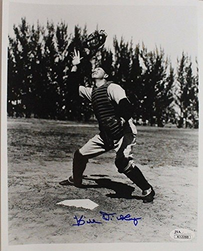 Bill Dickey D.1993 1928 43 Hall of Fame Yankees Autographed Signature Photo Autographed Signature 8x10 - JSA Authentic 17E
