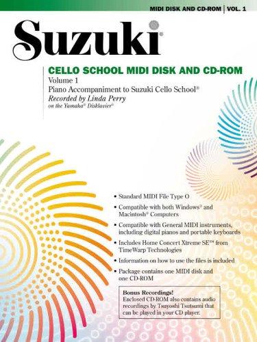 School Midi Disk (Suzuki Cello School MIDI Disk Acc./CD-ROM, Vol 1: MIDI Disk & CD-ROM)