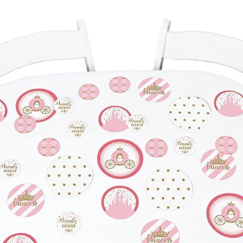 Big Dot of Happiness Little Princess Crown - Pink and Gold Princess Baby Shower or Birthday Party Giant Circle Confetti - Party Decorations - Large Confetti 27 Count]()