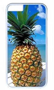 DIY Hard Shell White Best Personality iphone 6 plus Case Pineapple Beach