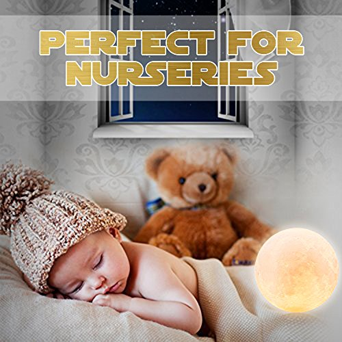 Baby Night Light, Newborn Night Light, Nursery Room Lamp, 3D Moon Lamp, Rechargeable Home Decorative Light, Dimmable Touch Control Brightness, Soothing Light, Relaxing Lamp, Helps You Sleep by Tmore (Image #2)