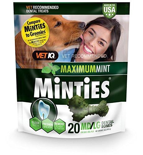 VetIQ Minties Dog Dental Bone Treats, Dental Treats Dogs, Me