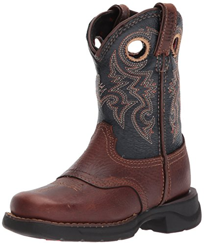 Rocky Baby RKW0163 Western Boot, Brown and Navy, 10 M US Toddler