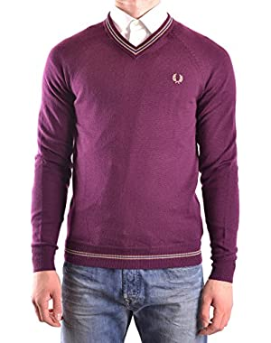Men's MCBI128179O Burgundy Wool Sweater