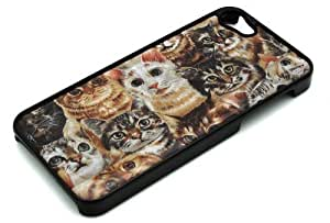 BLACK Snap On Case Case For Iphone 6 4.7 Inch Cover Plastic - Cat Overload Feline Eyes Cute