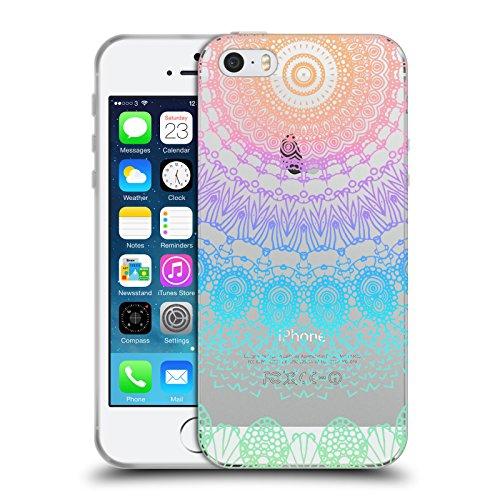 Officiel Monika Strigel Arc-En- Ciel Lacet Boho 2 Étui Coque en Gel molle pour Apple iPhone 5 / 5s / SE