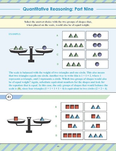 Quantitative Comparisons/Reasoning Workbook for SCAT (TM) and CTP ...