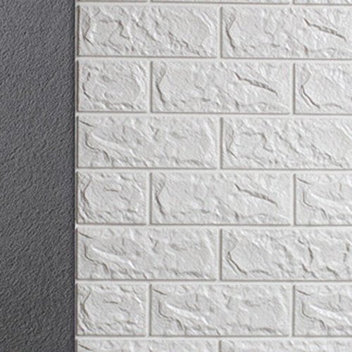 3D Brick Pattern Wall Stickers Peel and Stick Kitchen Backsplash Wall Sticker Faux Ceramic Tile Design 27.5