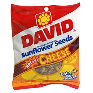 David Sunflower Seed, Nacho Cheese Flavor, 5.25-Ounce Bags (Pack of 12)