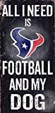 Fan Creations Sign Houston Texans Football and My Dog, Multicolored