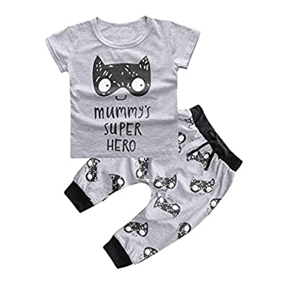 1Set Newborn Baby Boys Girls Outfit Printed T-shirt Tops+Pants Clothes by FEITONG that we recomend personally.