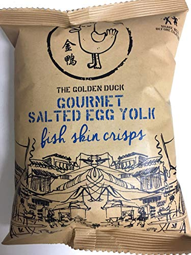 (Pack of 4) The Golden Duck Gourmet Salted Egg Yolk Fish Crisps 35g
