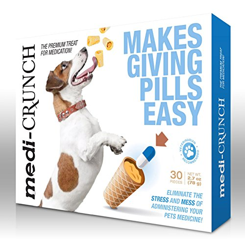 Medi-Crunch, Treat Pouches for a Pill, for Use with Dogs (1 Month Supply)