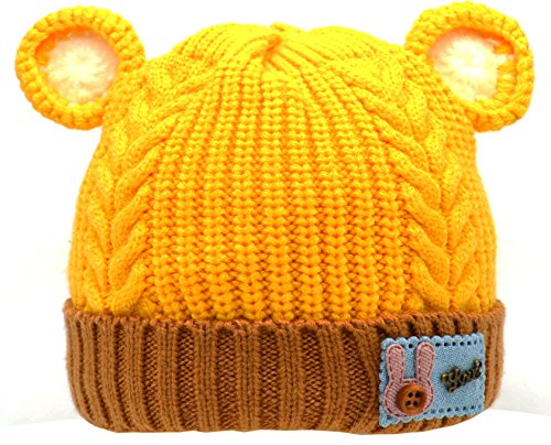 Unisex Baby Toddler Infant Soft Cute Lovely Bear Hat Crochet Stretch Knitted Lined Cap (Gorros Crochet Halloween)