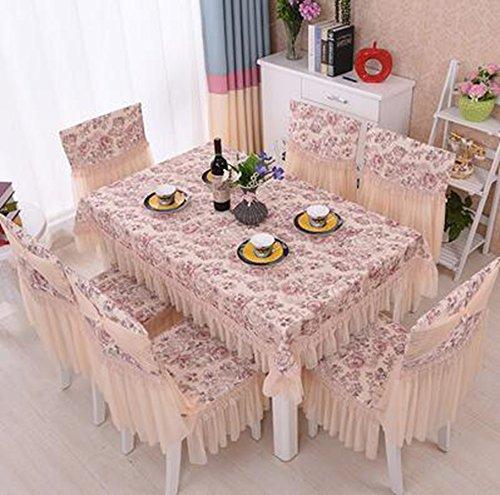 Kissen, dicke Sitzstuhl, europ chen, hochwertigen Stoff, Tischdecken Anzug,130180CM Beauty sand Farbe