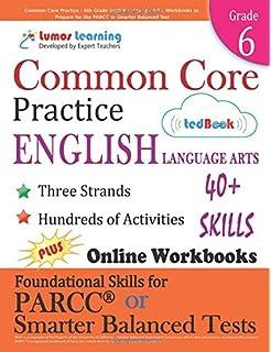 Amazon common core practice 8th grade english language arts common core practice 6th grade english language arts workbooks to prepare for the parcc fandeluxe Gallery