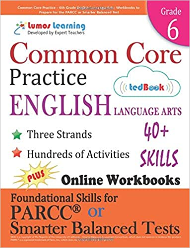 Amazon common core practice 6th grade english language arts amazon common core practice 6th grade english language arts workbooks to prepare for the parcc or smarter balanced test ccss aligned ccss fandeluxe Image collections