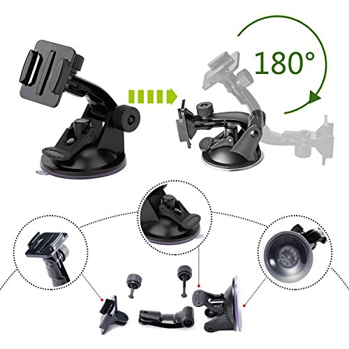 51VOYctWjAL - VANWALK 25-1 Accessories Kit for Gopro 4,3+,3,2, SJ4000 SJ5000 SJ6000 Camera / Chest Harness Mount / Head Strap / Gorpo Selfie Stick / Bike Handlebar Mount / Three-way Adjustable Pivot Arm