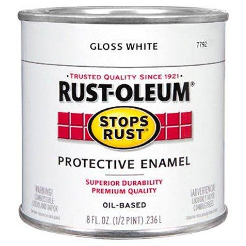 Gloss White Enamel Paint - Rust-Oleum 7792730 Protective Enamel Paint, 8-Ounce, Gloss White