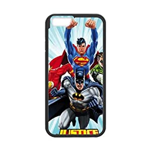 Justice League Team Power Up Blue iPhone 6 Plus 5.5 Inch Cell Phone Case Black&Phone Accessory STC_942820