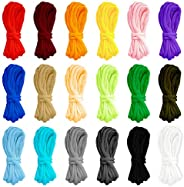 18Pcs Paracord Bracelet Rope, 10 Feet Parachute Cord Outdoor Survival Rope Set DIY Manual Braiding for Outdoor