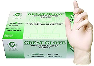 GREAT GLOVE Latex Powder-Free 4.5-5 mil General Purpose Glove