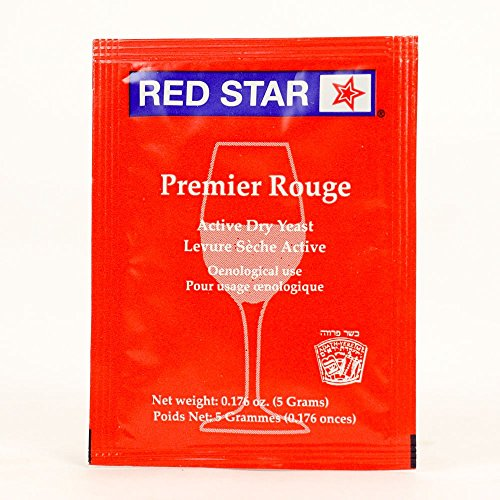 Red Star Pasteur Red Wine Yeast, 5g - 10-Pack
