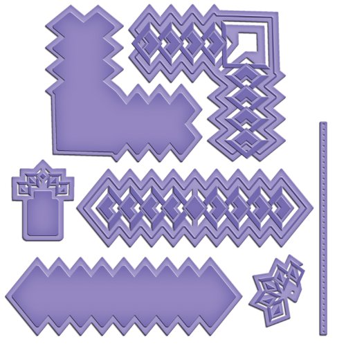 Spellbinders S5-137 Shapeabilities Diamond Strips and Accents Cut Fold and Tuck Die Templates