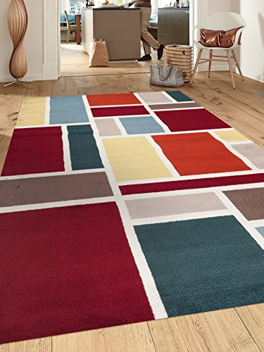 Rugshop Contemporary Modern Boxes Design Soft Indoor Area Rug, 7'10