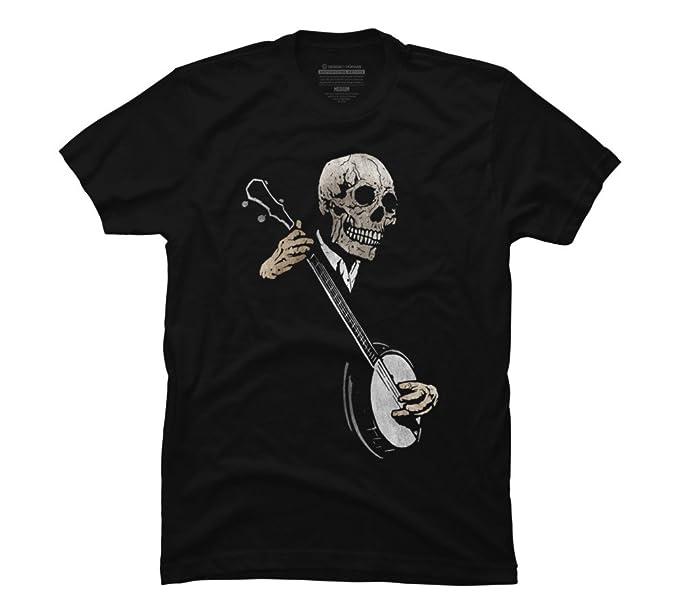 Amazon.com: La Banjo Blues de los hombres Gráfico T Camisa ...