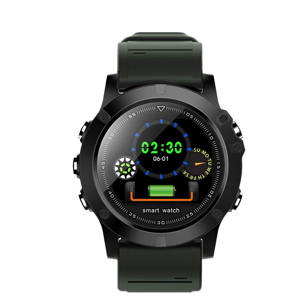 Cywulin Fitness Tracker Waterproof IP68 Multi-Sport Smartwatch Activity Tracking Bracelet Heart Rate Sleep Blood Pressure Monitor for iOS Android Phone Kids Men Women Color Screen Outdoor (Green)