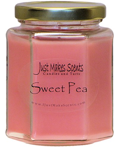 Sweet Pea Scented Blended Soy Candle by Just Makes Scents ()