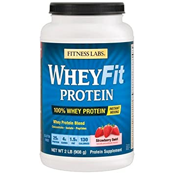 Fitness Labs WheyFit Protein 2 Pounds, Strawberry Swirl