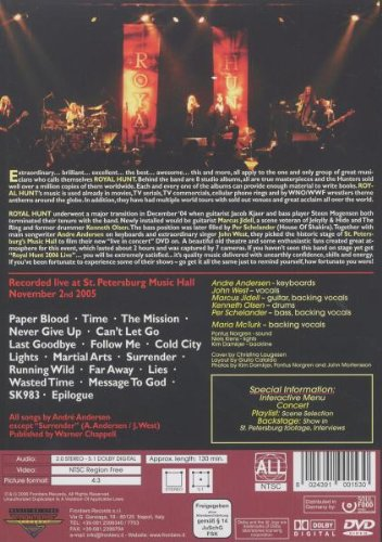 Royal Hunt 2006 Live by Frontiers Italy