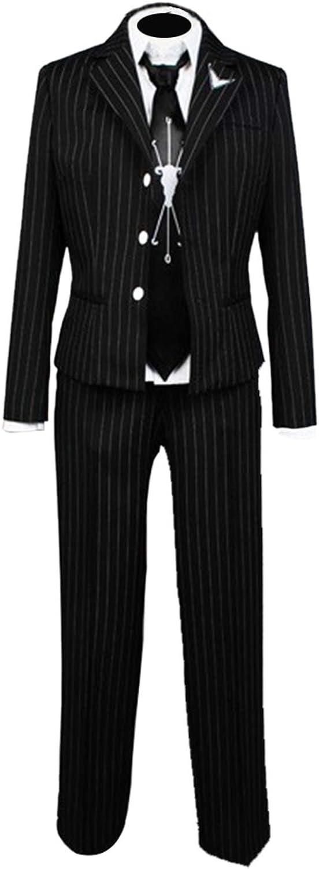 Ya-cos Fuyuhiko Kuzuryu Cosplay Outfit Uniform Pinstripe Suit Anime Costume Blazer Shirt Pants Full Set with Tie: Clothing - Amazon.com
