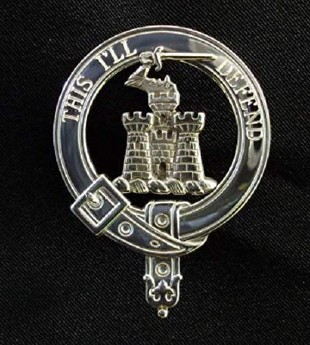 Kincaid Scottish Clan Crest Badge in Solid Sterling Silver or 14K Yellow Gold