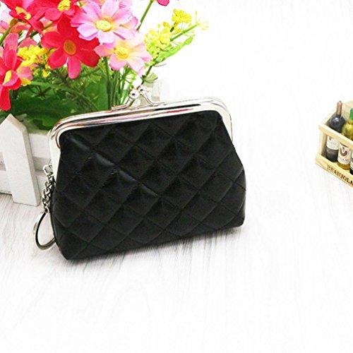YJYdada Womens Wallet Card Holder Coin Purse Clutch Bag Handbag (Black)