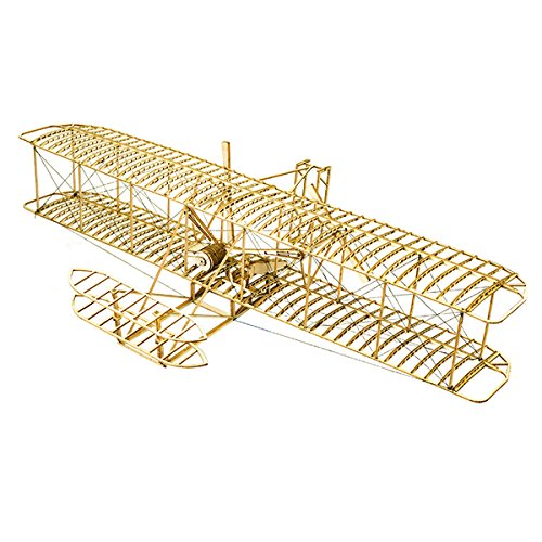 HITSAN Wright Flyer1903 Balsa Wood 510mm Wingspan Airplane Model Kit One Piece by HITSAN (Image #2)