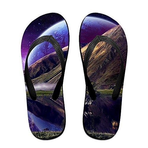 Cute Halloween Wallpaper Desktop (Creative Desktop Space Logo Unisex Fashion Beach Flip Flops Sandals Slippers Sandal For Home & Beach)
