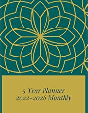 5 Year Planner 2022-2026 Monthly: Mandala Five Year Planner with Personal & Business Goals | Monthly & Weekly Large Schedule Organizer & Agenda