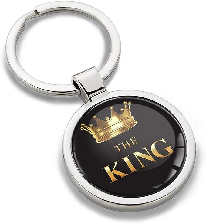 Biomar Labs Schlüsselanhänger Metall Keyring Autoschlüssel Geschenk Metall Schlüsselanhänger Schlüsselbund Edelstahl King Emblem Kk 167 Bekleidung