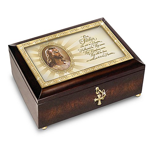 Music Box: The Lord's Prayer Heirloom Head Of Christ Warner Sallman Music Box by The Bradford Exchange ()
