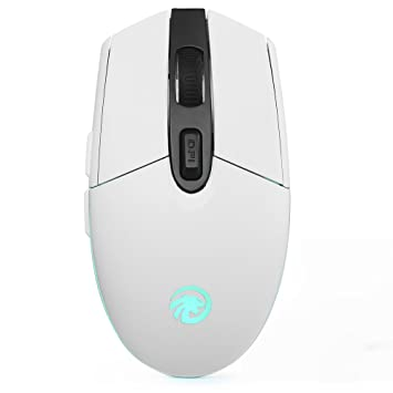 8b7c2e67de4 TENMOS T10 Wireless Computer Mouse Rechargeable Optical Led 2.4GHz USB Mouse,  3 Adjustable DPI,6 Buttons for Mac/PC/Laptop (white): Amazon.ca: Office ...