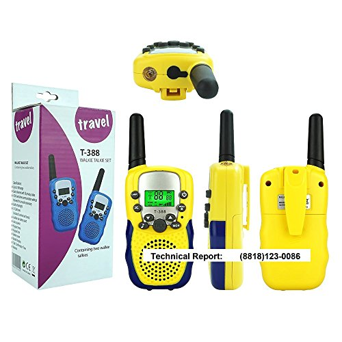 Walkie Talkies for Kids Boys Girls, Ouwen Long Range Walkie Talkies for Kids Popular Hottest Outdoor Toys for 3-12 Year Old Boys Girls Presents Gifts for 3-12 Year Old Boys Girls Yellow Blue OWUSDD09 by Ouwen (Image #7)
