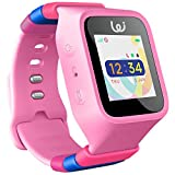 POMO Waffle Smart Watch GPS Locator for Kids (Pink) with SOS Function, Pedometer, Touch Screen, Phone/Messaging, Precision Locators, and More! Syncs with iPhones and Android Phones